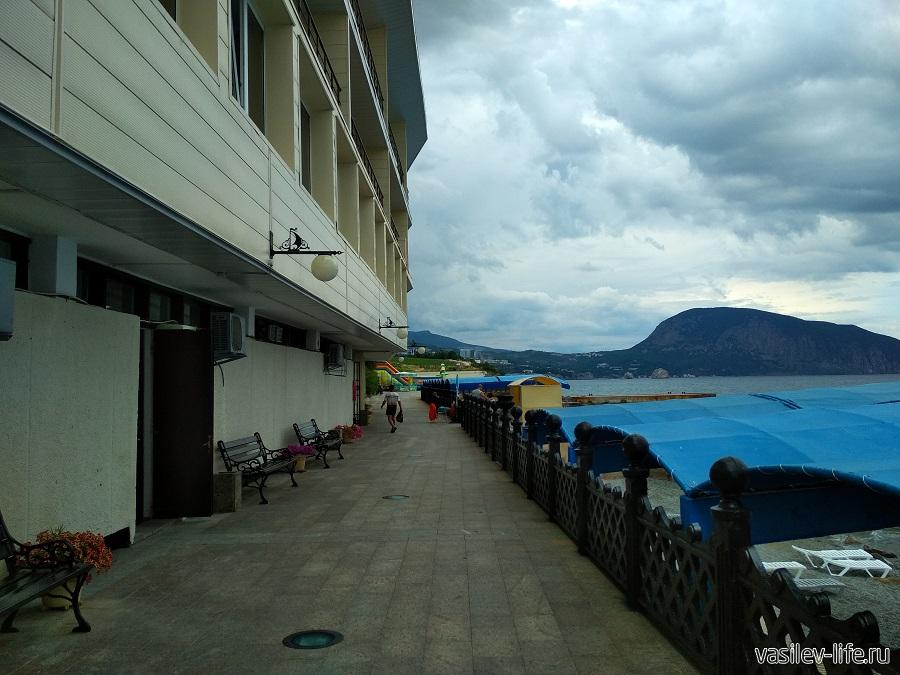 Пляж санатория «Ай-Даниль» в окрестностях Ялты (2)