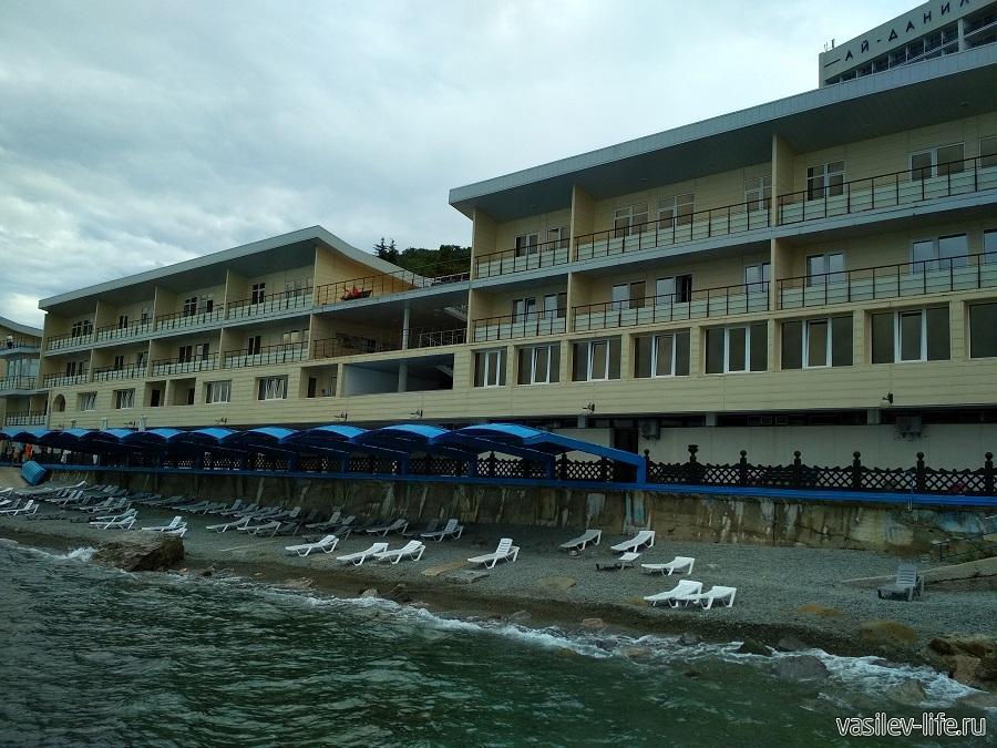 Пляж санатория «Ай-Даниль» в окрестностях Ялты