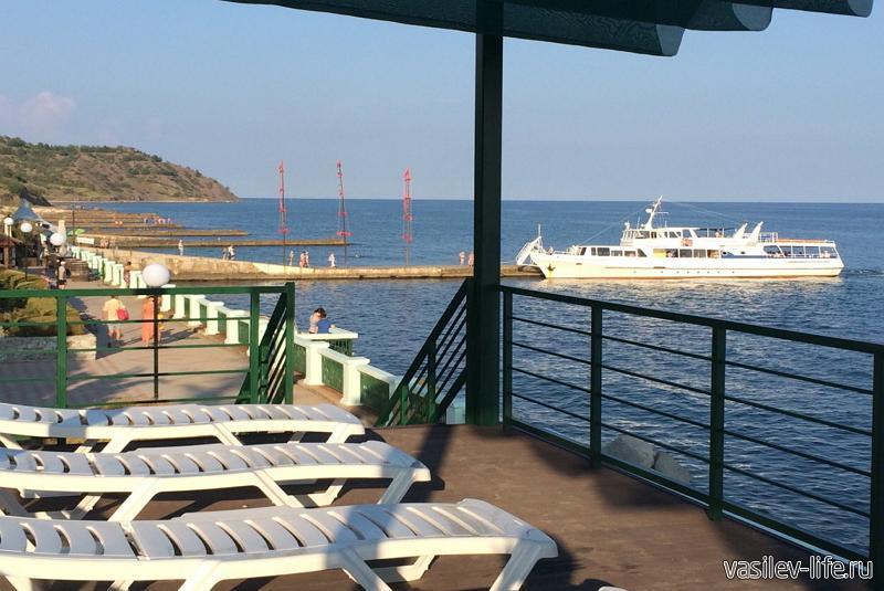 Пляж санатория «Алые паруса»