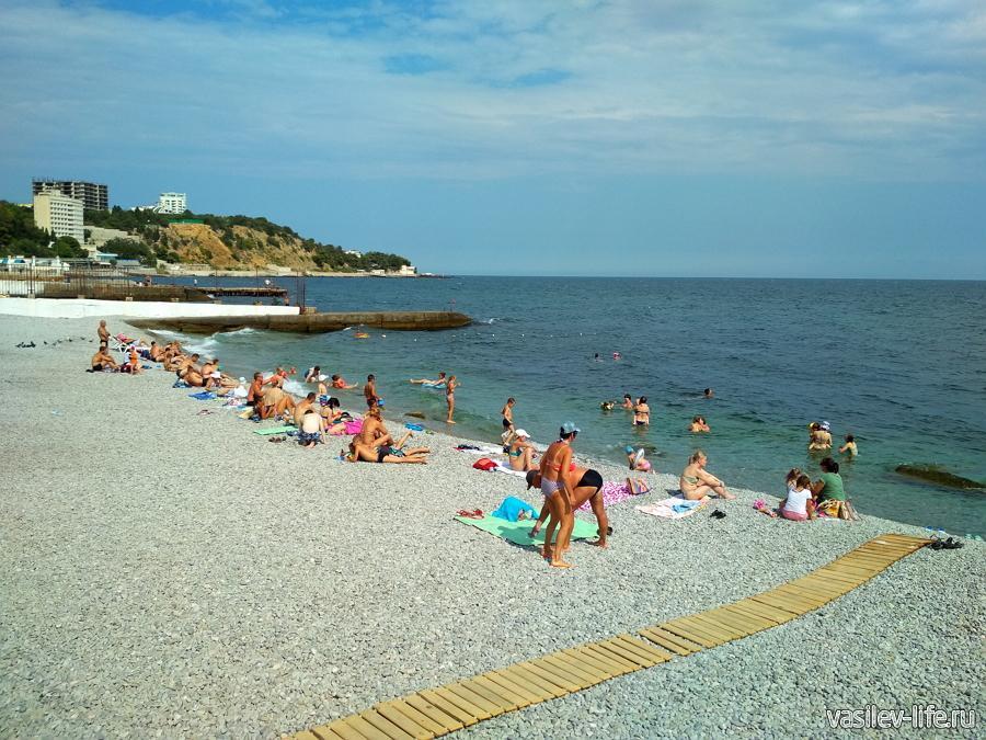 Пляж санатория «Мисхор»