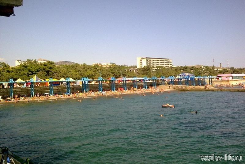 Пляж санатория ВВС, Судак