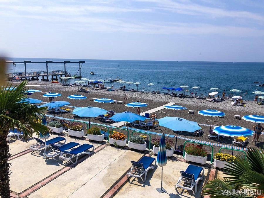 Пляж санатория Одиссея