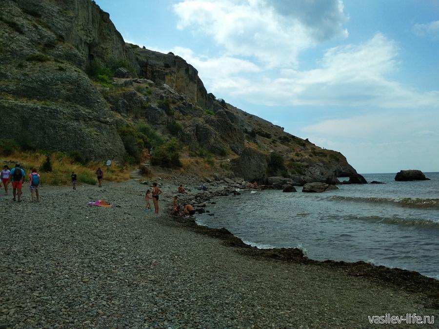 Пляж у мыса Алчак (Судак)