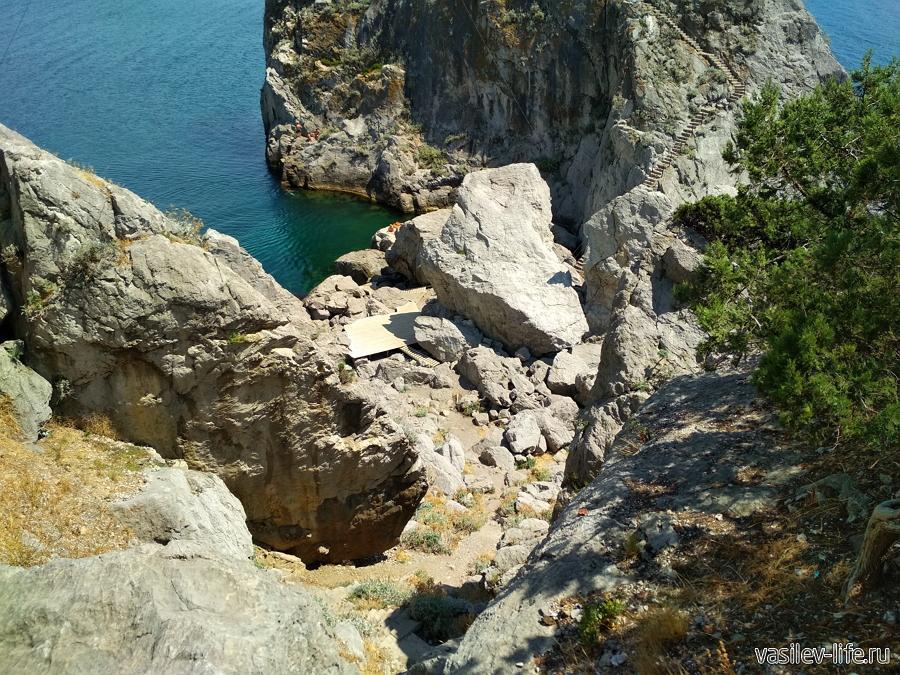 Подвесной мост на скалу Дива в Симеизе