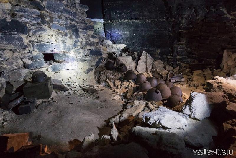 Подземная Керченская крепость внутри