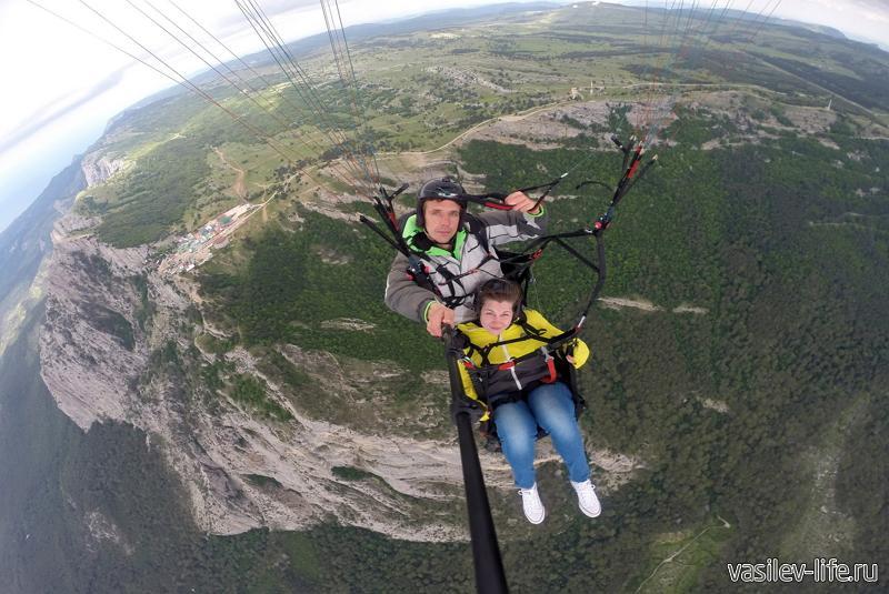 Полет на параплане с вершины Ай-Петри