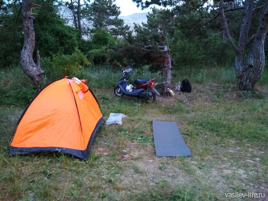 Решил остановиться с палаткой