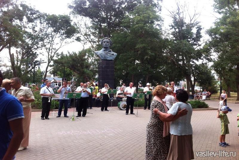 Сквер Пушкина в Саках