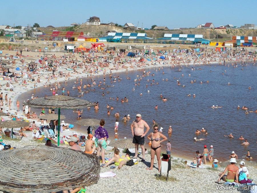 Солёное озеро в Соль-Илецке