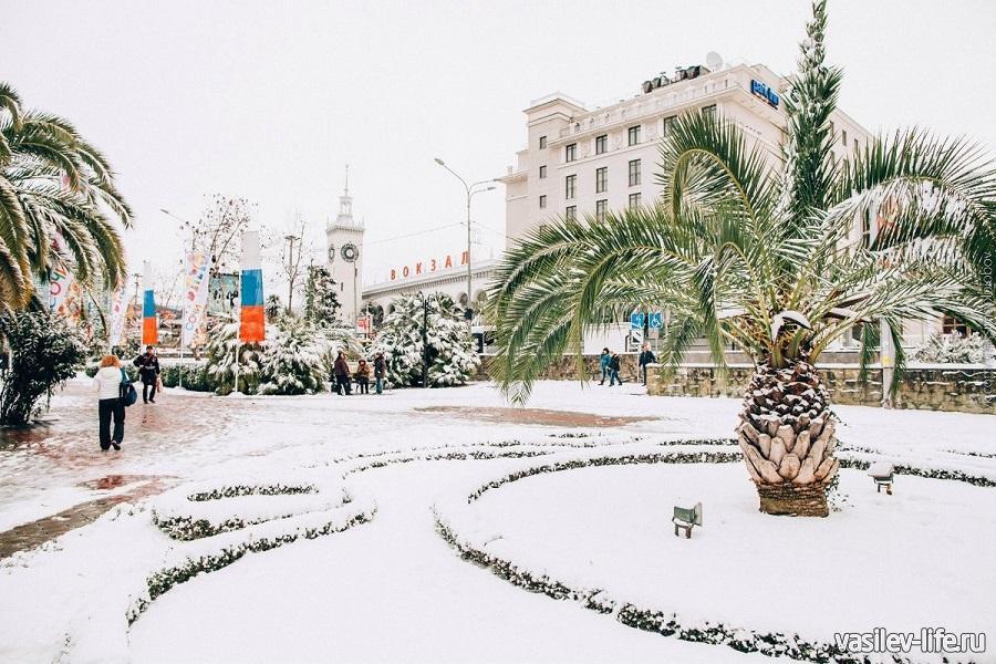 Снег выпадает крайне редко