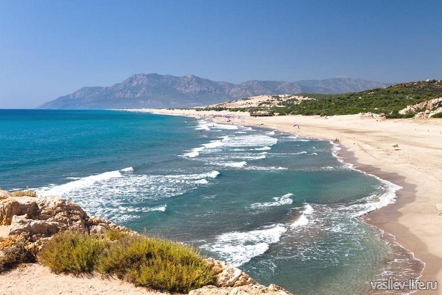 Средиземное море в Турции в августе