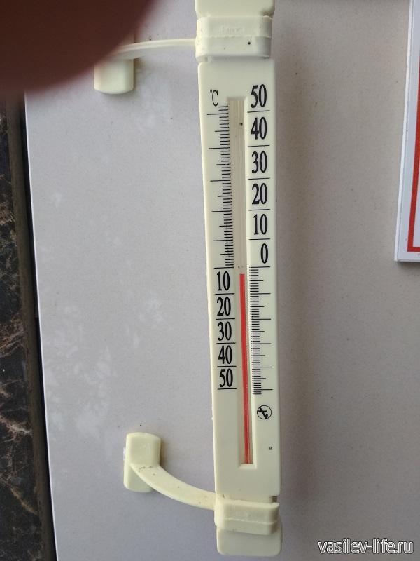 Температура на улице в середине февраля