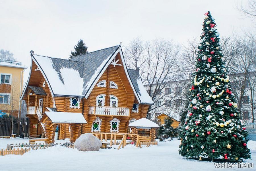 Терем Снегурочки в Костроме в январе