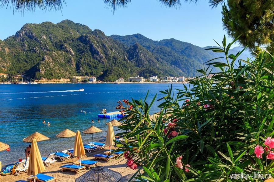 Эгейское море в Турции летом