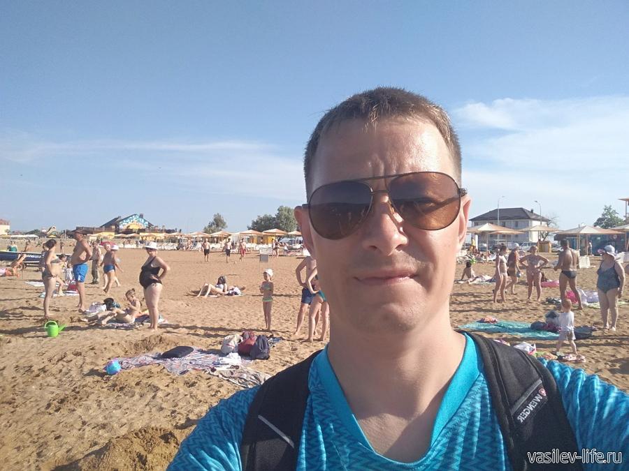селфи на пляже