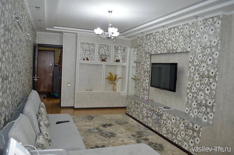 Квартира которую мы сняли на AirBnb в Казахстане