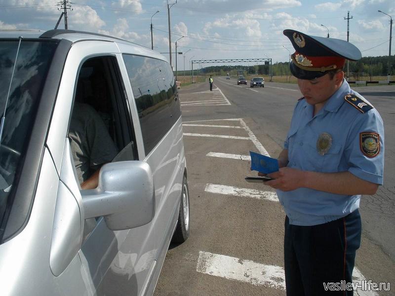 Сотрудники ДПС в Казахстане