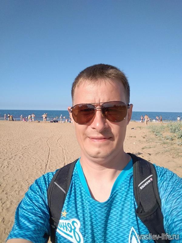 Я на фоне пляжа