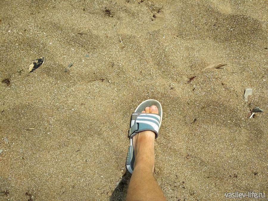 Вот такое покрытие на пляже